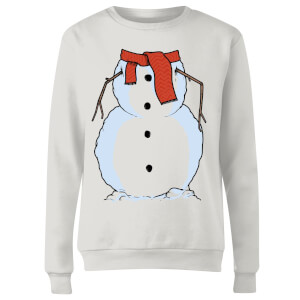 Snowman Women's Sweatshirt - White
