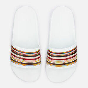 Paul Smith Women's Rubina Stripe Front Slide Sandals - White