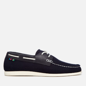 PS by Paul Smith Men's Quint Knitted Boat Shoes - Dark Navy