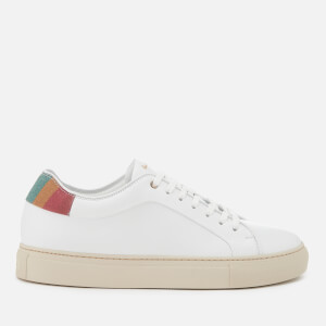 Paul Smith Women's Basso Swirl Back Leather Cupsole Trainers - White