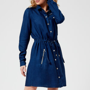 Versace Jeans Women's Drawstring Shirt Dress - Indigo