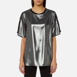 Versace Jeans Women's Metallic T-Shirt - Nero