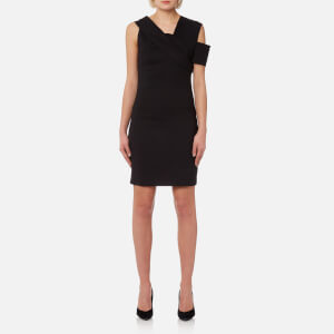 Helmut Lang Women's Asymmetric Scuba Dress - Black