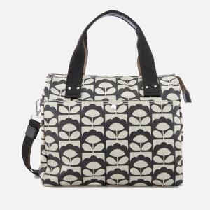 Orla Kiely Women's Zip Messenger Bag - Charcoal