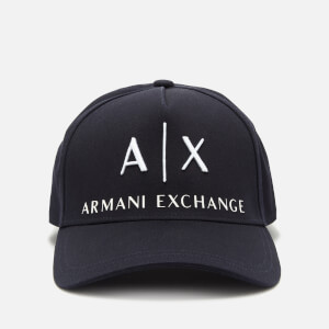 Armani Exchange Men's Corporate Ax Logo Cap - Navy