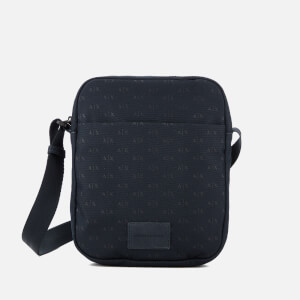 Armani Exchange Men's Nylon Logo Satchel - Navy