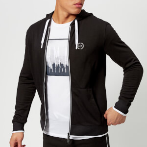Armani Exchange Men's Zipped Hoody - Black