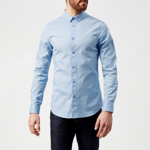 Armani Exchange Men's Long Sleeve Shirt - Sky