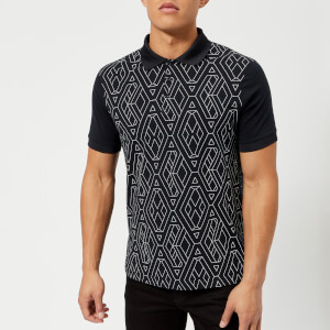 Armani Exchange Men's Printed Polo Shirt - Navy Geometric