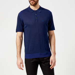 Armani Exchange Men's Knitted Polo Shirt - Navy/Ultramarine
