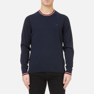 Michael Kors Men's Crew Neck Tipped Collar and Cuffs Sweater - Midnight