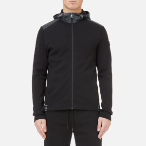 Michael Kors Men's Heavy Interlock Tape Trim Full Zip Hoody - Black