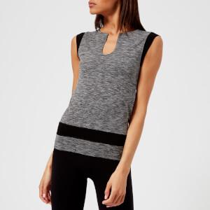M-Life Women's Space Mesh Seamless Vest - Black Marl