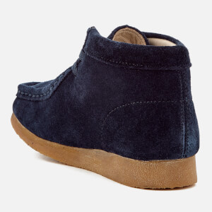 Clarks Originals Kids' Wallabee Boots - Navy Suede: Image 2