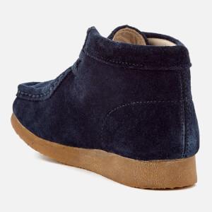 Clarks Originals Kids' Wallabee Boots - Navy Suede: Image 2