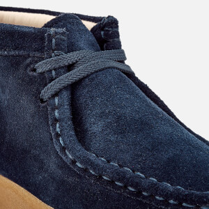 Clarks Originals Kids' Wallabee Boots - Navy Suede: Image 4