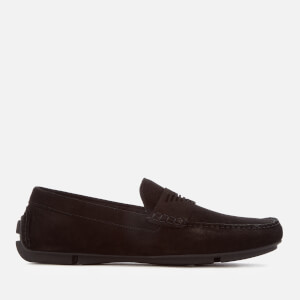 Emporio Armani Men's Suede Driver Shoes - Black