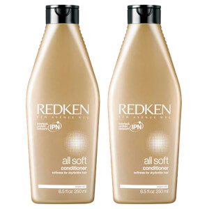 Dúo de acondicionadores All Soft de Redken (2 x 250 ml)