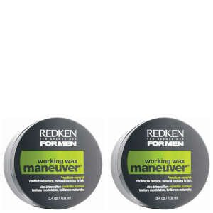 Redken For Men Maneuver Wax Duo (2 x 100ml)