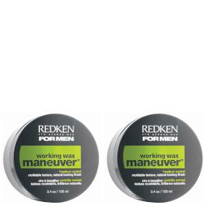 Redken For Men Maneuver Wax Duo (2 x 100ml)