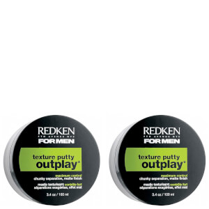 Redken For Men Outplay Texture Putty Duo (2 x 100ml)