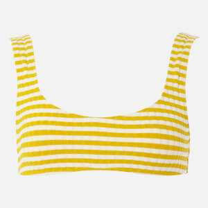 Solid & Striped Women's The Elle Top - Mustard Stripe Rib