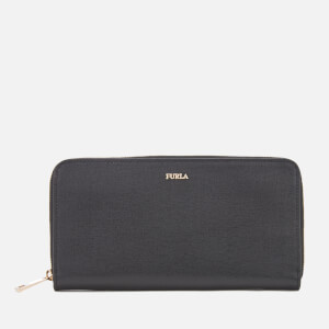 Furla Women's Babylon Extra Large Zip Around Wallet - Black