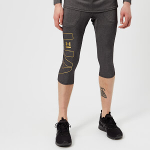 Under Armour Men's Perpetual Half Leggings - Black/Metallic Gold