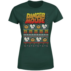 Danger Mouse Christmas Women's T-Shirt - Green