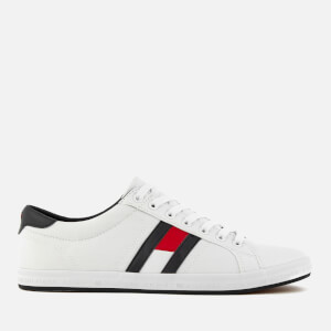 Tommy Hilfiger Men's Essential Flag Details Trainers - White
