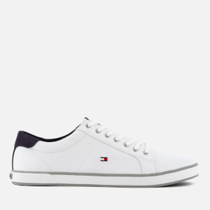 Tommy Hilfiger Men's Canvas Low Top Trainers - White