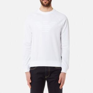Emporio Armani Men's Crew Logo Sweatshirt - Bianco Ottico