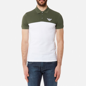 Emporio Armani Men's Twin Colour Polo Shirt - Verde Timo