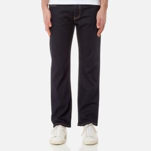 Emporio Armani Men's J21 5 Pocket Regular Fit Jeans - Denim Blu