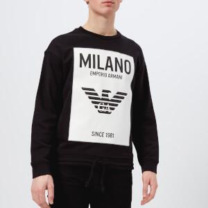 Emporio Armani Men's Milan Logo Sweatshirt - Nero