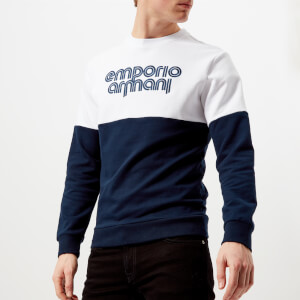 Emporio Armani Men's Split Colour Sweatshirt - Blu