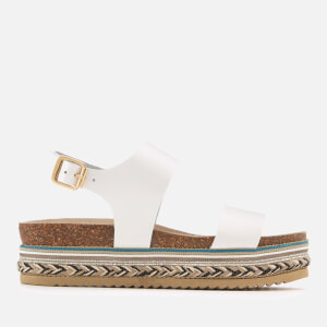 Carvela Women's Kitten Leather Flatform Sandals - White