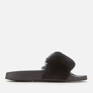 Carvela Women's Koat Fur Slide Sandals - Black
