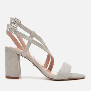 Carvela Women's Group Suede Block Heeled Sandals - Grey