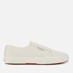 Superga Men's 2750 Nappaleau Leather Trainers - White