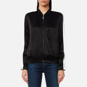 Karl Lagerfeld Women's Satin Bomber Jacket - Black