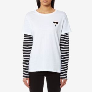 Karl Lagerfeld Women's Ikonik Emoji Karl T-Shirt - White