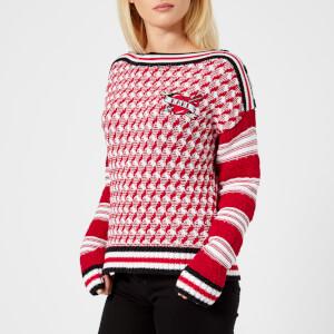 Karl Lagerfeld Women's Captain Karl Sweatshirt - Red