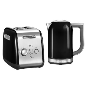 KitchenAid Jug Kettle and 2 Slot Toaster Bundle - Onyx Black