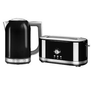 KitchenAid Jug Kettle and 4 Slot Toaster Bundle - Onyx Black