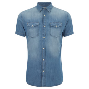 Jack & Jones Men's Originals Sheridan Denim Shirt - Dark Blue Denim