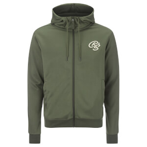 Crosshatch Men's Montanas Tricot Zip Through Hoody - Beetle