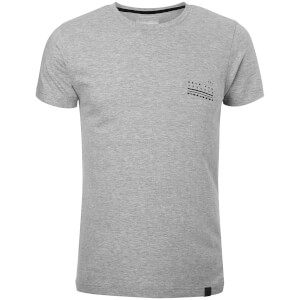 Dissident Men's Hanzo Back Print T-Shirt - Light Grey Marl