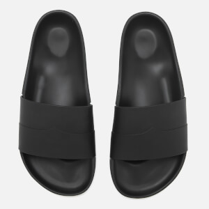 Hunter Men's Original Moustache Slide Sandals - Black/Dark Slate