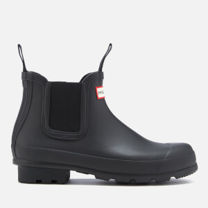 Hunter Men's Original Dark Sole Chelsea Boots - Black